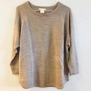 Sweet Romeo Tan Sweater 3/4 Sleeve